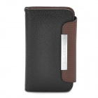 KALAIDENG Protective PU Leather Flip-Open Case for Iphone 4 / 4S - Black