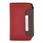 KALAIDENG Protective PU Leather Flip-Open Case for iPhone 4 / 4S - Red