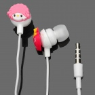 Cute Cartoon Melody Style In-Ear Earphone with Microphone for iPhone 4 - Pink + White
