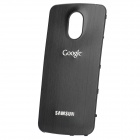 Replacement Wire Drawing Aluminum Alloy Back Battery Cover for Samsung i9250 Galaxy Nexus - Black