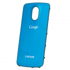 Replacement Wire Drawing Aluminum Alloy Back Battery Cover for Samsung i9250 Galaxy Nexus - Blue