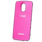 Replacement Wire Drawing Aluminum Alloy Back Battery Cover for Samsung i9250 Galaxy Nexus - Red