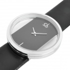 Designer's Stylish Hollow-Out Electronic Wrist Watch - Black (1 x CR626)