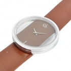 Designer's Stylish Hollow-Out Electronic Wrist Watch - Brown (1 x CR626)