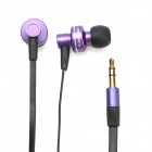 AWEI ES900M In-Ear Earphone w/ Clip for Iphone 4 / 4S - Purple + Black (3.5mm Jack / 120cm-Cable)