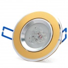 3W 6500K 200LM 3-LED White Light Ceiling Lamp (85~265V)