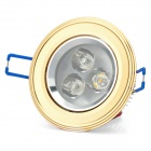 3W 3500K 200LM 3-LED Warm White Light Ceiling Lamp (85~265V)