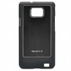 Protective Aluminum Alloy Cover PC Back Case for Samsung Galaxy S II i9100 - Black