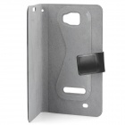 Protective PU Leather Flip-Open Case for Samsung i9220 - Silver Grey