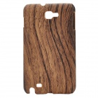 Wooden Pattern Protective PC Back Case for Samsung i9220 / Galaxy Note / N7000 - Dark Brown