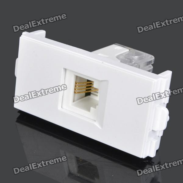 RJ11 4-Pin Telephone Module vention 4 pin rj 11 6p4c telephone straight coupler cable extender 10pcs