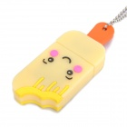 Bonito Ice Lolly-Style USB Flash Drive com Chain - Amarelo (4GB)