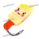 Cute Ice-Lolly Style USB Flash Drive with Chain - Yellow (8GB)