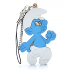 Cute Wooden Smurfs Style Cell Phone Strap w/ Carrying Strap (Random Style)