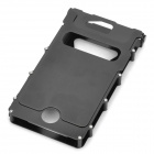 Wonderful iNox Stainless Steel iPhone 4/4S Case - Black