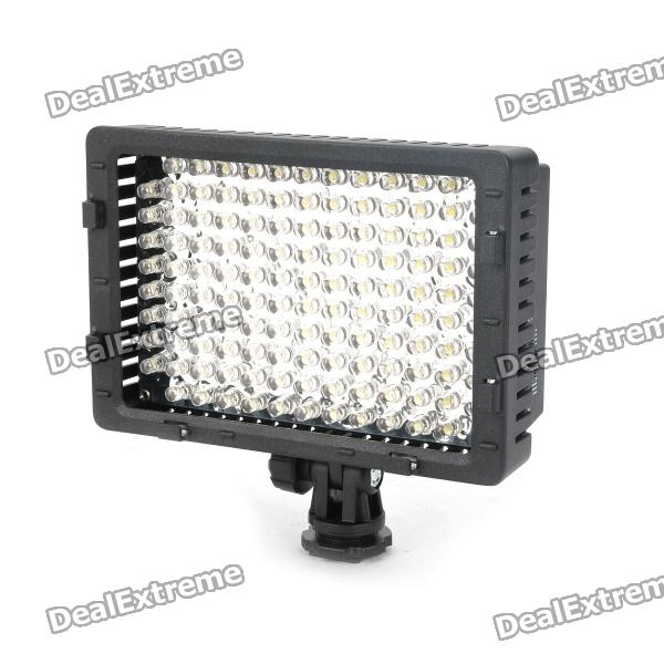 Genuine 520LM 5400K 126-LED White Video Light for Camera/Camcorder - Black