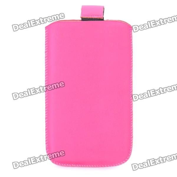 Protective PU Pouch for Iphone 3g/3GS/4/4S - Rose Red