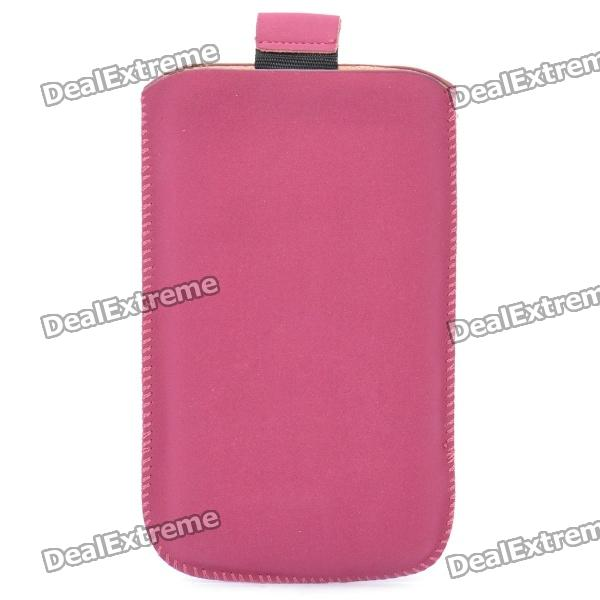 Protective PU Pouch for Iphone 3g/3GS/4/4S - Deep Red