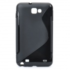 Protective PVC Back Case for GALAXY NOTE/I9220/GT-N7000 - Black