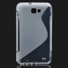 Protective PVC Back Case for GALAXY NOTE/I9220/GT-N7000 - White