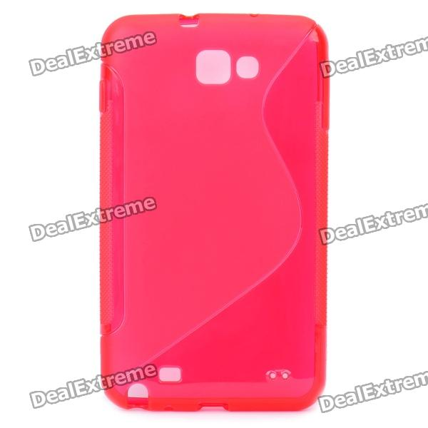 Protective PVC Back Case for GALAXY NOTE/I9220/GT-N7000 - Red protective leather case screen protectors for samsung galaxy note i9220 gt n7000