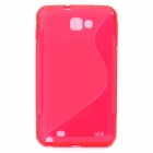 Protective PVC Back Case for GALAXY NOTE/I9220/GT-N7000 - Red