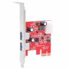 Neutral 5Gbps USB3.0 Desktop PC PCI-E Card Adapter - Red (U3PCIE-202)