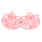 Marie Aristocat Style Biscuit Cookie DIY Cutter Moulds Set - Pink (2-Piece Pack)