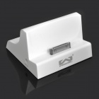 Multifunction Charging Dock Station w/ Line Out for iPhone 3G / 3GS / 4 - White