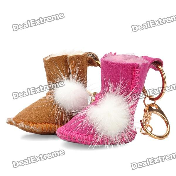 Mini Snow Boot Style Keychain Set - Random Color doershow italian shoes with matching bags for lady nigerian shoe and bag set for wedding african shoe and bag set partypaa1 11