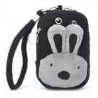 Cute Mobile Phone Carrying Handbag Pouch - Black