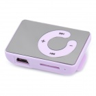 Spiegel Wiederaufladbare Clip-On-Screen-Free MP3-Spieler w / TF Slot / 3,5 mm Klinke - Purple