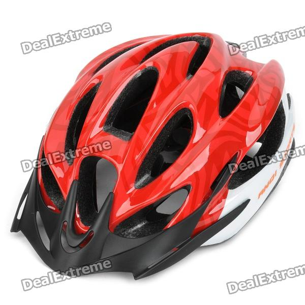 Cool Sports Cycling Helmet - Red + White cycling helmet mountain bike road bike helmet kask mtb casco ciclismo 53 56cm for men women and kids