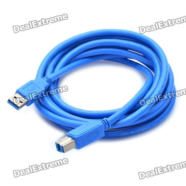 USB 3.0 AM to BM Printer Cable - Blue (3M-Length) best price 5pin cable for outdoor printer