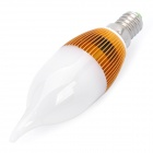 200LM 3000-3500K 3-LED Candle Style Light Bulb (3x1W/85~240V)