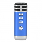 Stylish Mini Portable KTV Singing Karaoke Player for Computer / Cellphone / MP3 / MP4 - Dark Blue