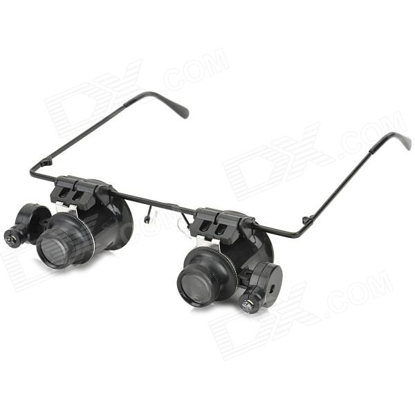 Glasses Type 20X Magnifier with White LED Light (2 * CR1620)