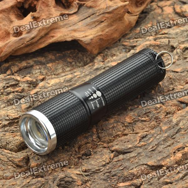 Cree Q3 WC 1-Mode 180LM 1-LED White Light Flashlight with Strap - Black (1 x 14500)