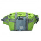 Portable Durable Outdoor Nylon Waist Bag - Grey + Green
