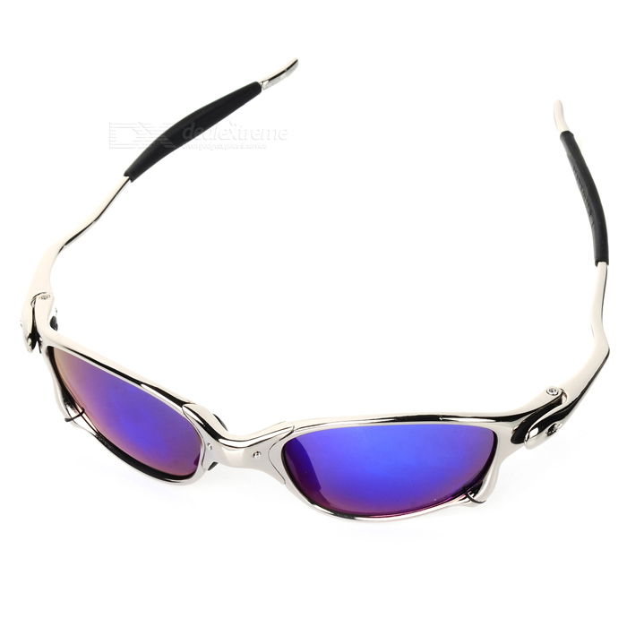 JULIET Sports Cycling UV 400 Polarizing Sunglasses - Silver + Purple