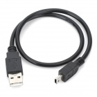 4-núcleo Mini 5 Pin a USB Cable - negro