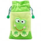 Cute Keroppi Doll Shorts Plush Fabric Pouch Bag for iPhone 4 / 4s / iPod Touch - Green