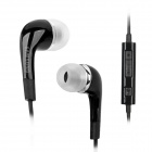 Genuine Samsung In-Ear Earphone w/ Microphone for i9100 / i9220 / i9000 - Black (3.5mm-Plug)