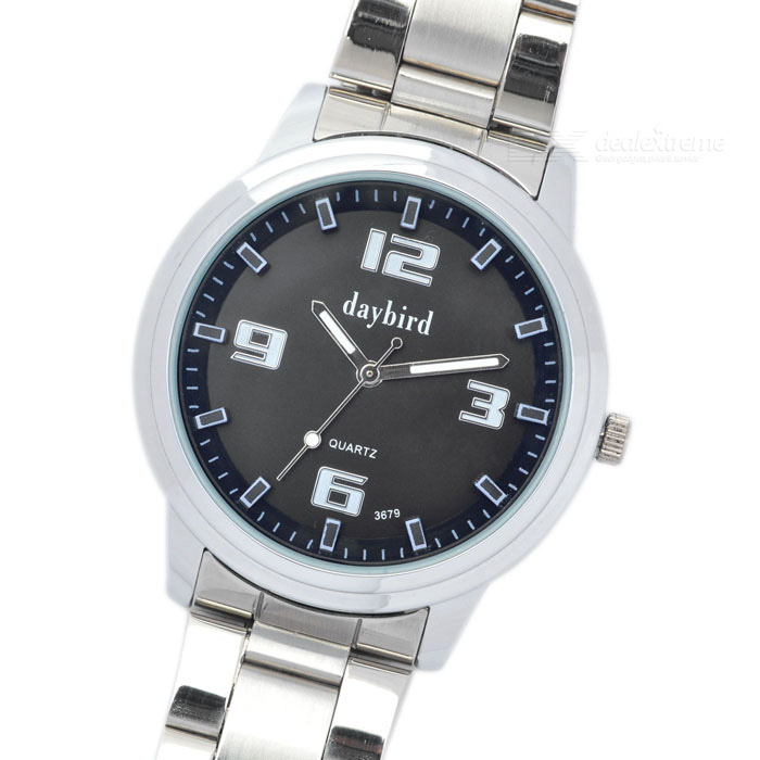 Fashion Stainless Steel Quartz Wrist Watch (1 x LR626)Full Steel Watches<br>Form  ColorBlackWater ResistantFor daily wear. Suitable for everyday use. Wearable while water is being splashed but not under any pressure.Packing List<br>