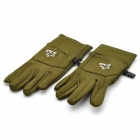 Capacitive Touch Screen Winter Warm Gloves for Iphone / Ipad + More - Army Green (Size-M / Pair)