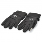 Capacitive Touch Screen Winter Warm Gloves for Iphone / Ipad + More - Black (Size-M / Pair)