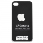 Remembering Steve Jobs Protective PVC Back Case w/ Screen Protector for iPhone 4 / 4s - Black