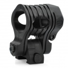 Quick-Release Flashlight / Laser Mount Holder for 20mm Rail Gun - Black (23~25mm-Diameter)