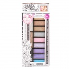 Cosmetic Makeup Eye Shadow Kit with Brush - Random Color (12-Color Pack)