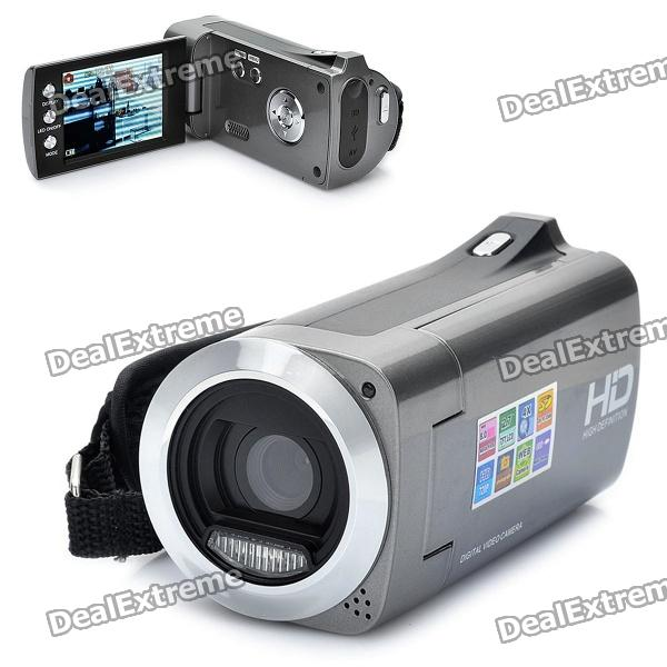 2.7 TFT LCD CMOS 8MP Digital Video Camera w/ SD/Mini USB/AVout - Silver Grey 940 0 3 mp 1 3 cmos network ip camera w 2 0 lcd time display black 1 x 18650